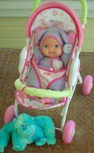 Baby Doll and Stroller