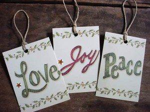 Christmas Card Gift Tags