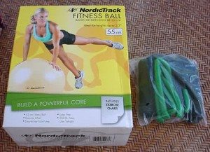 Exercise Ball and Resistance Band